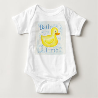 Rubber Ducky Bathtime infant clothing Baby Bodysuit