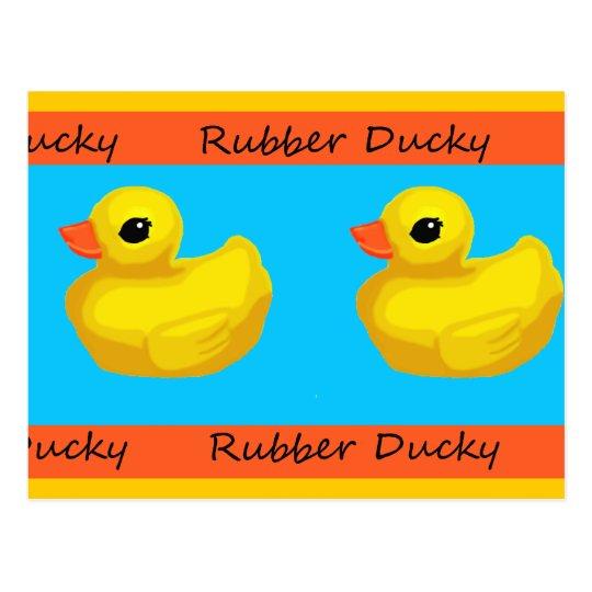 Rubber Ducky Blank Postcard