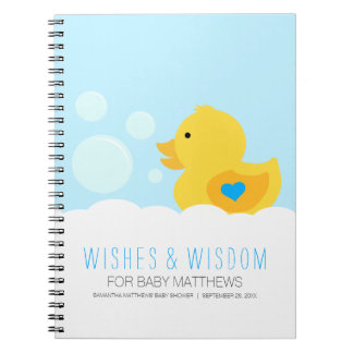 Rubber Ducky Boy Baby Shower Guest Book