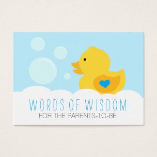 Rubber Ducky Bubble Bath Boy Baby Shower Advice Business Card