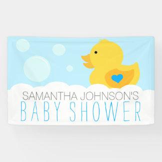 Rubber Ducky Bubble Bath Boy Baby Shower Banner
