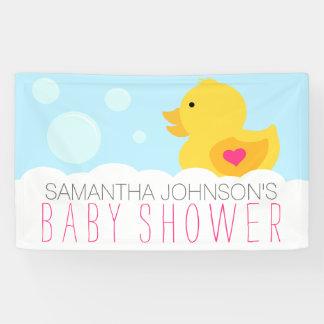 Rubber Ducky Bubble Bath Girl Baby Shower Banner