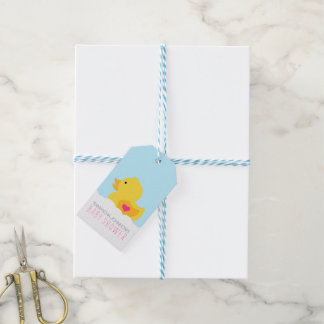 Rubber Ducky Bubble Bath Girl Baby Shower Gift Tags