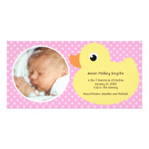 Rubber Ducky Bubble Frame New Baby Photo Cards