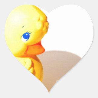 Rubber Ducky - Cute Heart Sticker