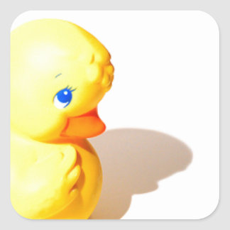 Rubber Ducky - Cute Square Sticker