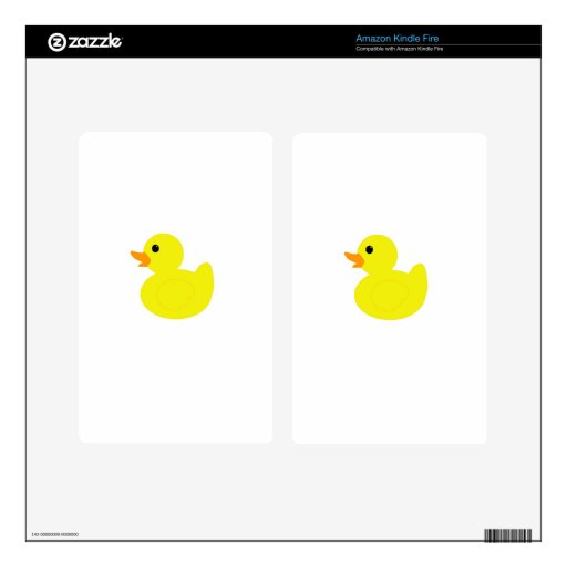 Rubber Ducky Decal For Kindle Fire