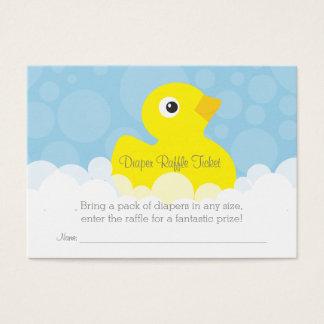 Rubber Ducky Diaper Raffle Ticket - Blue