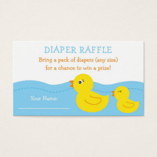 Rubber Ducky Diaper Raffle Tickets