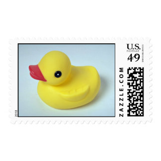 Rubber ducky doll for kids postage stamp