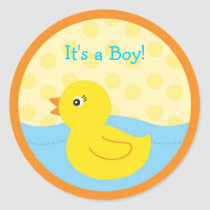 Rubber Ducky Duck Envelope Seals Stickers