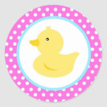 Rubber Ducky Duck Favor Stickers