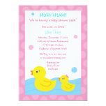 "Rubber Ducky Duck Girl Baby Shower Invitations 5"" X 7"" Invitation Card"