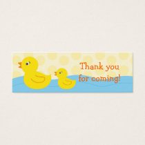 Rubber Ducky Duck Goodie Bag Tags Gift Tags