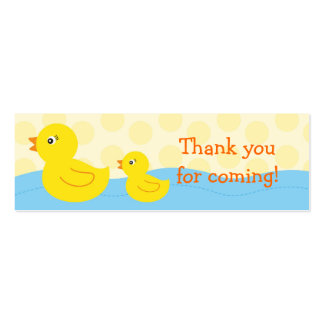 Rubber Ducky Duck Goodie Bag Tags Gift Tags Mini Business Card