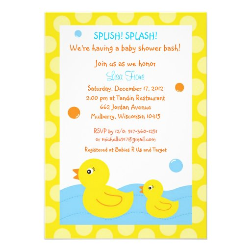 Ducky Baby Shower Invitations could be nice ideas for your invitation template
