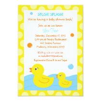 Rubber Ducky Duck Neutral Baby Shower Invitations