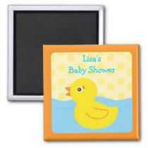 Rubber Ducky Duck Party Favor Magnets