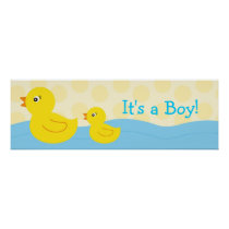 Rubber Ducky Duck Personalized Banner Sign Poster