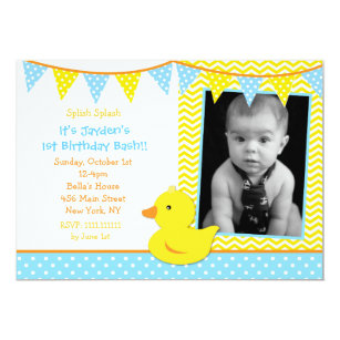 duck birthday invitations zazzle