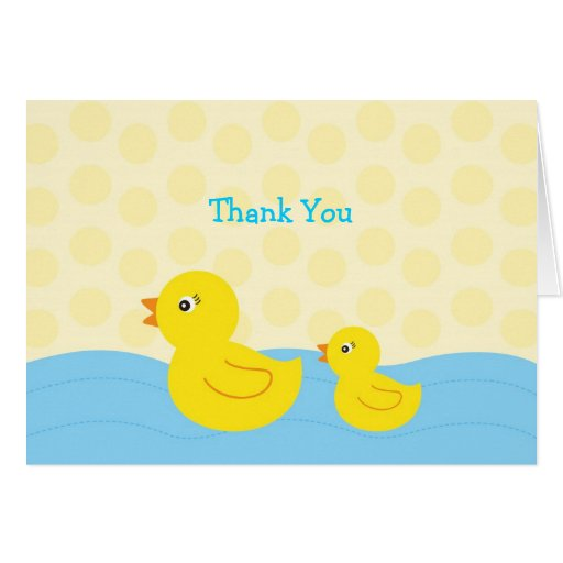 Rubber Ducky Duck Thank You Note Cards