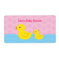 Rubber Ducky Duck Water Bottle Stickers Labels