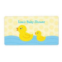 Rubber Ducky Duck Water Bottle Stickers Labels
