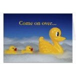 Rubber Ducky Family Bath Greeting Card