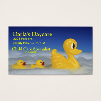 Rubber Ducky Family In Bath Business Card
