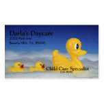 Rubber Ducky Family In Bath Set Business Card Templates
