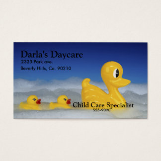 Rubber Ducky Family In Bath Set Business Card