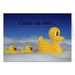 Rubber Ducky Family In Bath Set Card