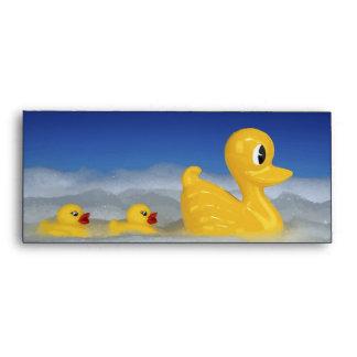 Rubber Ducky Family In Bath Set Envelopes