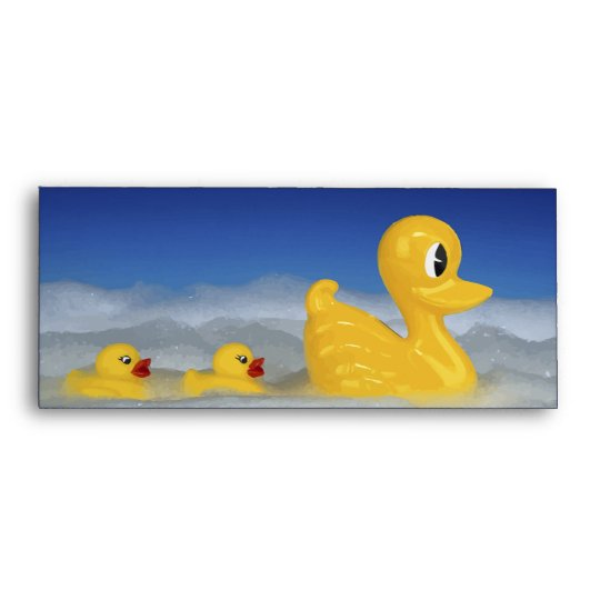 Rubber Ducky Family In Bath Set Envelope