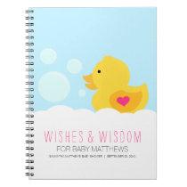 Rubber Ducky Girl Baby Shower Guest Book