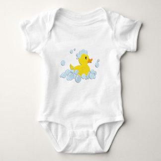 Rubber Ducky in Bubbles Baby Bodysuit
