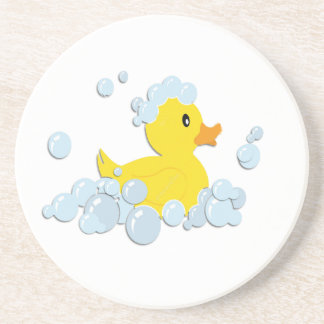 Rubber Ducky in Bubbles Drink Coaster