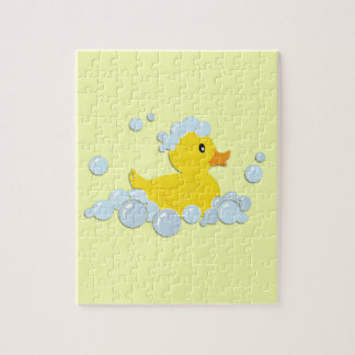 Rubber Ducky in Bubbles Jigsaw Puzzle