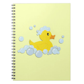Rubber Ducky in Bubbles Notebook