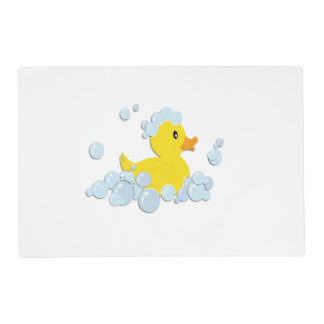 Rubber Ducky in Bubbles Placemat