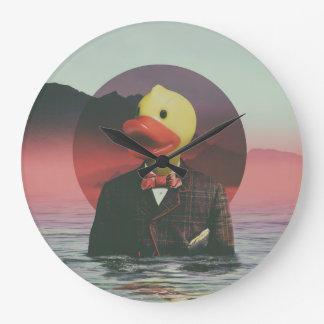 Rubber Ducky Large Clock