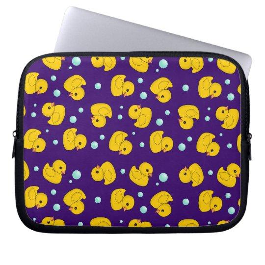 Rubber Ducky Pattern Laptop Sleeve