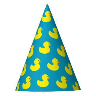 Rubber Ducky Pattern Party Hats