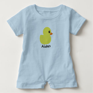 """Rubber Ducky""Personalized  Baby Romper"