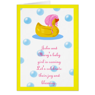 Rubber ducky pink card