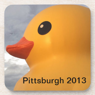 Rubber Ducky Pittsburgh Drink Coaster