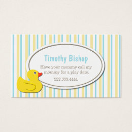 Rubber Ducky Play Date Card