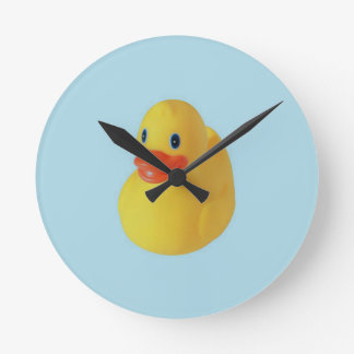 Rubber Ducky Round Clock