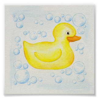 Rubber Ducky square print