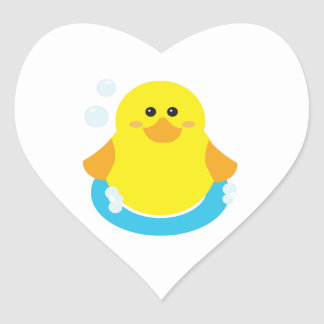 Rubber Ducky Heart Sticker